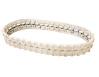 Obrazek Gąsienica gumowa biała (niebrudząca) 180x72x34