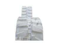 Obrazek Gąsienica gumowa biała (niebrudząca) 320x100x56
